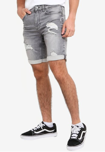 Only & Sons grey Ply Life Shorts 13154AA6D0E7D0GS_1
