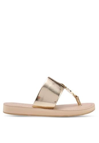 ALDO gold Yilania Sandals 2D6CCSHD70A703GS_1