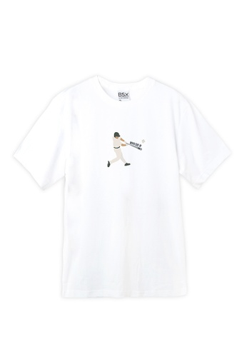 BSX white BSX Unisex's regular fit printed logo tee (Online exclusive) C0E68AAB10752CGS_1
