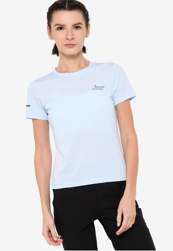 361° blue Cross Training Short Sleeve T-shirt EE532AA1F4E3F1GS_1