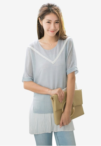 Tokichoi blue Special Top With Pleated Hem 0E5C4AA6A0A75AGS_1