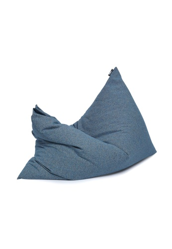 SoftRock blue VESUVIUS – Linen-Style Upholstery and Synthetic Suede Versatile SoftRock Bean Bag (Deacon) B16CFHLB3F9B1DGS_1