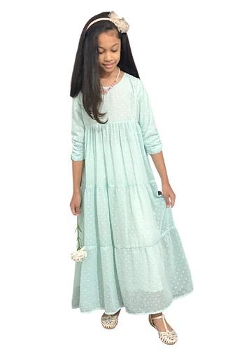 Ribbons+Wheels green Green Princess Dress 69095KAC913078GS_1