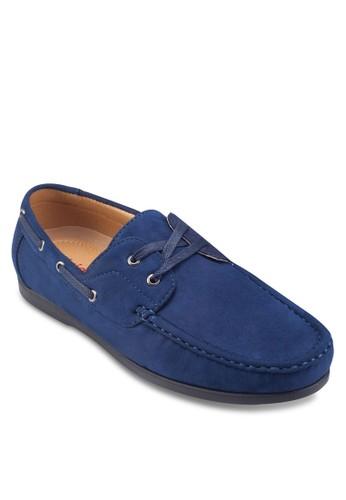 穿孔esprit 包繫帶麂皮船型鞋, 鞋, 船型鞋