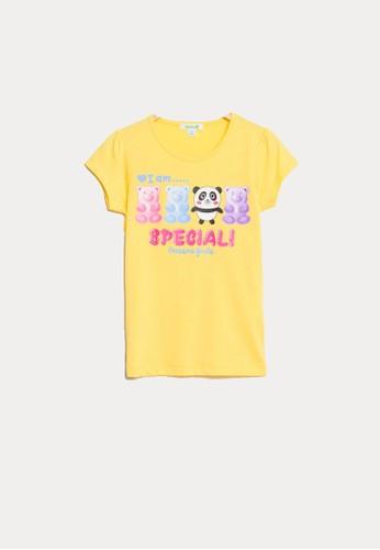 Bossini yellow Bossini Kids Girl T-Shirt Yellow (84080408007) B5F02KAA8C6043GS_1