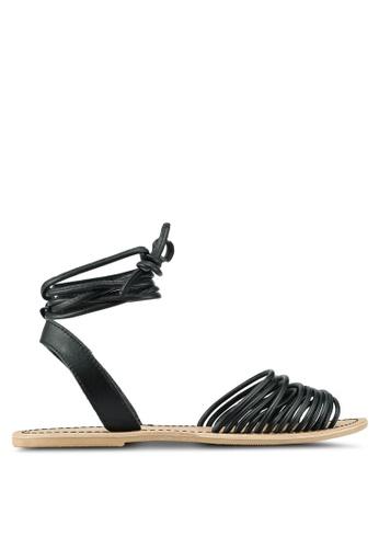 TOPSHOP black Ankle Tie Sandals 40C41SH91A992DGS_1