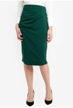 e19574f503b Dorothy Perkins green Green Ruched Pencil Skirt D55B1AA3AF2EDCGS 1