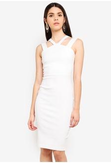 43539080a5fa Vesper Donna Midi Dress With Straps 9CE0AAA7A4444DGS 1