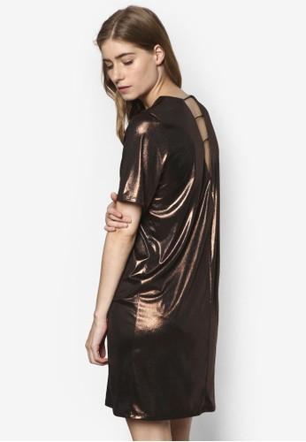 Lame 金屬感露背連身裙TEE,esprit地址 服飾, 服飾