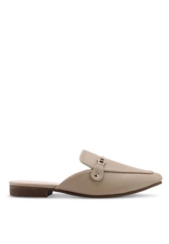 Nose 米褐色 低跟穆勒鞋 1F9BASH09D7C2FGS_1
