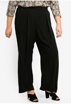 0101c3975ac Dorothy Perkins black DP Plus Size Black Palazzo Trousers 27D16AA64583C8GS 1