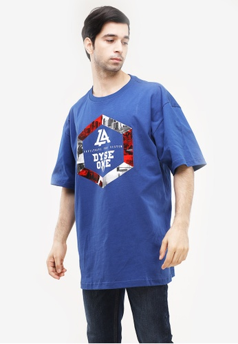 Dyse One blue Round Neck Loose Fit D83E5AAFB03136GS_1