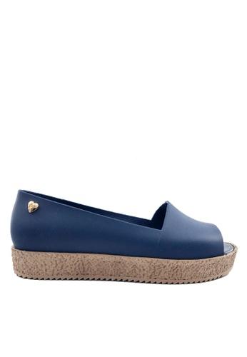 Twenty Eight Shoes 藍色 魚嘴厚底果凍膠雨涼鞋 VR236 7F694SH5D72F6FGS_1