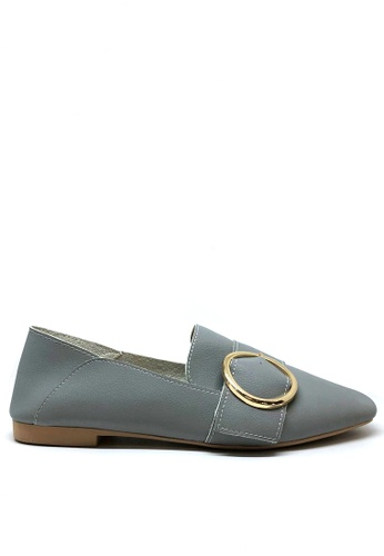 Twenty Eight Shoes grey Casual Button Loafers 1140-67 B269CSH00FBD11GS_1