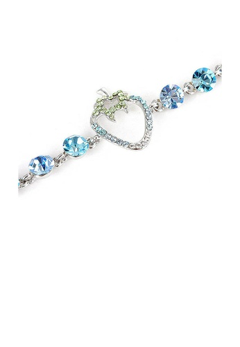 Glamorousky blue Strawberry Bracelet with Blue CZ and Multi-colour Austrian Element Crystals ADBC4ACD954C3AGS_1