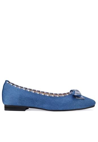 SPUR blue Cherish bow Flats 1F57ESH1A37FDBGS_1
