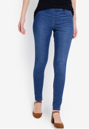 Dorothy Perkins blue Mid Wash Eden Jeggings DO816AA23RUUMY_1