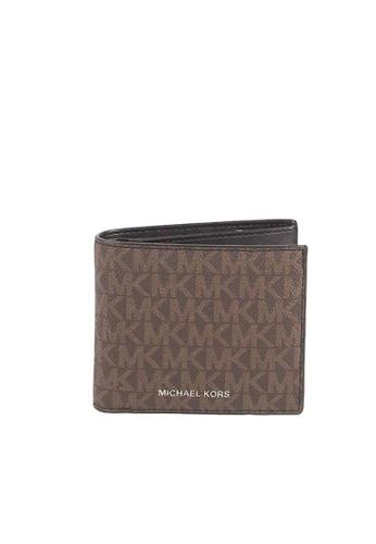 Michael Kors brown Michael Kors Cooper Billfold 36U9LCRF6B Wallet With Passcase In Brown Black 5FA3AACB160867GS_1