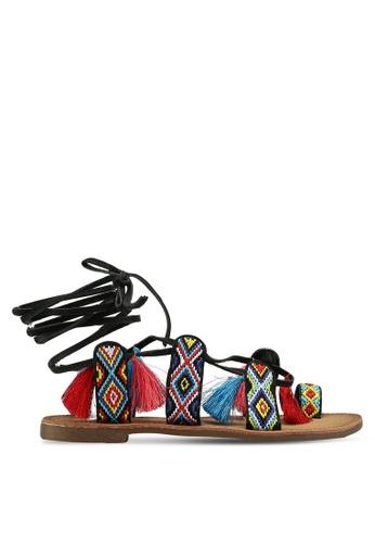 Divine Factory black Ciara Sandals E4390SH638732EGS_1