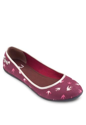燕esprit retail子印花平底鞋, 女鞋, 鞋