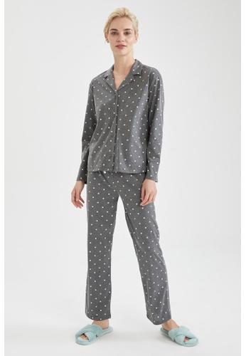 DeFacto grey Woman 2-pieces Homewear Top & Bottom Set C7DA2AAE2732A1GS_1