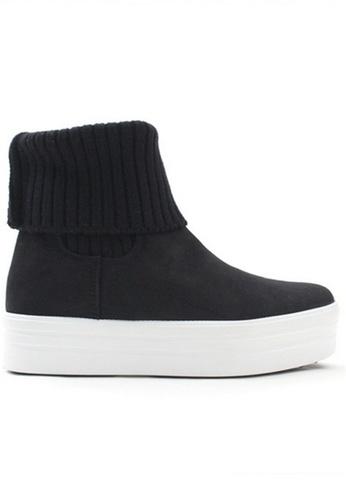 Crystal Korea Fashion black Korean Winter Comfortable Thick Boots CR681SH2VS1RHK_1