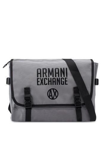 Armani Exchange grey Contrast Piping Messenger Bag 0B5D3AC1FBC933GS 1 99732578bbc45