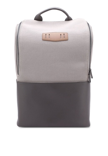ZALORA grey Essential Canvas Backpack 09AFBACCE35A2DGS_1