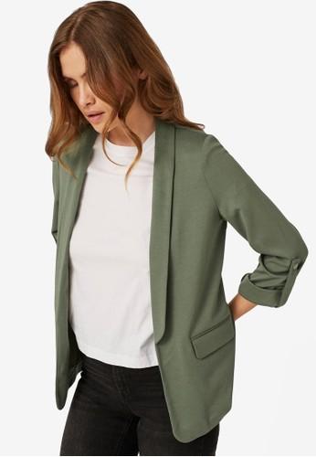 Vero Moda green Open Blazer A0F07AA5F81461GS_1