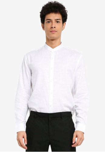 MANGO Man white Regular-Fit Mao Collar Shirt ABEFBAA8B3F90BGS_1