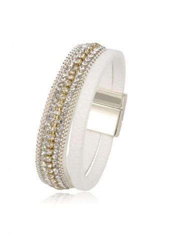 Her Jewellery white Gleam Bracelet (White) 1F17CACA729181GS_1