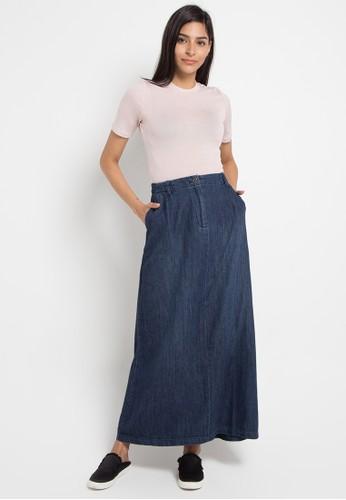 1872799f8bd8a5 Jual GEELA Denim Maxi Skirt Original