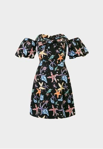 Pomelo black Starfish Cold Shoulder Mini Dress - Black BB347AA7D5CA8EGS_1