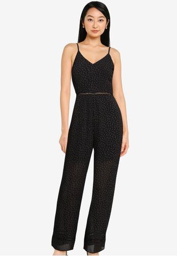 ZALORA BASICS black Lace Trim Jumpsuit 5E376AA92A2C20GS_1