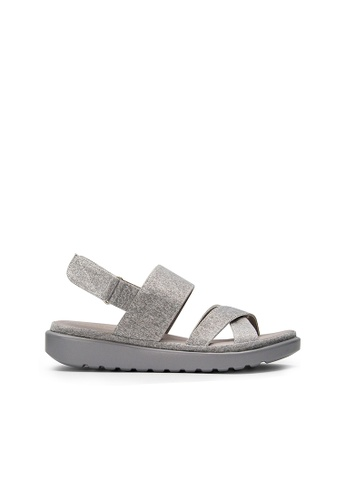 SEMBONIA grey SEMBONIA Synthetic Leather Flat Sandal (Light Grey) 4114ESH3B3C893GS_1