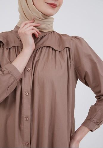 Hijabenka brown Sephia Fia Collar Dress Brown 099D4AA4F98C4DGS_1