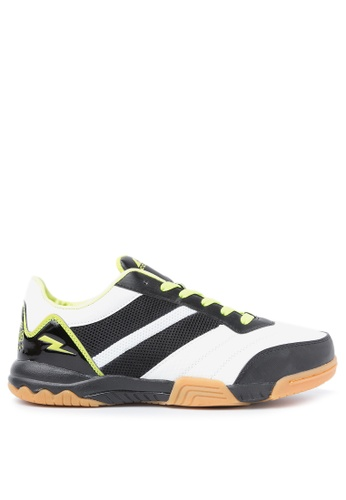 ACCEL black and white and green Indoor Court Football Shoes AC958SH62LQJPH_1