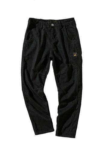 hk-ehunter black Men's Casual Pant 176CDAA6E427F4GS_1