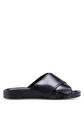 TOPSHOP black Roxy Jelly Sliders 48D67SHA64EC0AGS_1