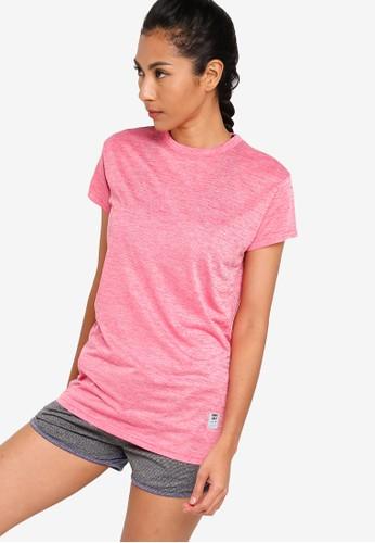 UniqTee pink Slim Crew Neck Tee FD052AA6E29892GS_1