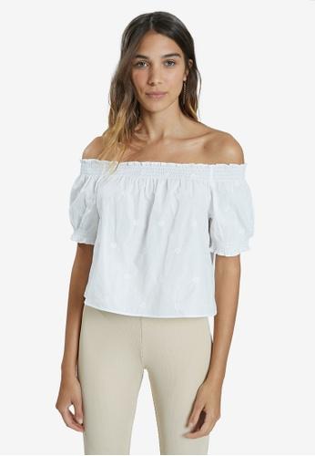 PIMKIE 白色 刺繡短袖 上衣 493BEAA48C7CA8GS_1