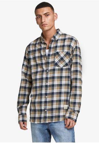 Jack & Jones beige Camden Long Sleeves Shirt 226C5AA4E0D91EGS_1