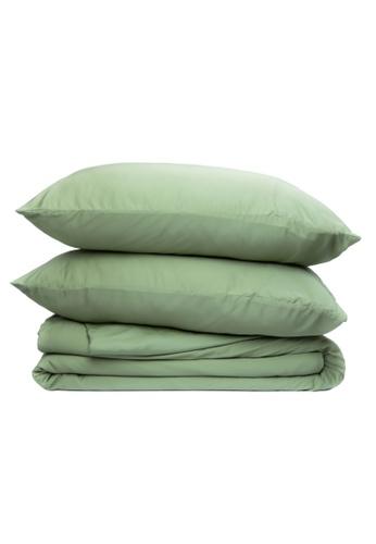 Sunday green Bamboo Sheet Set Sage Green. E0A76HL85ECDE2GS_1