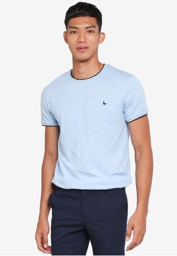 Jack Wills blue Baildon Ringer T-Shirt DC615AA8F0B126GS_1