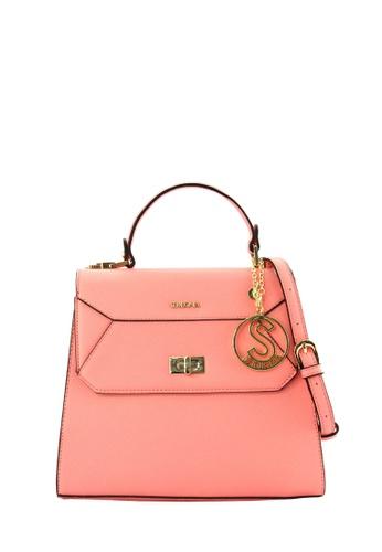 SEMBONIA pink SEMBONIA Synthetic Leather Satchel Bag SE598AC0RIBGMY_1