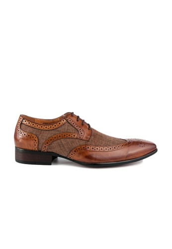 Kings Collection brown Bastian Brogue Shoes D1251SH579BA5AGS_1