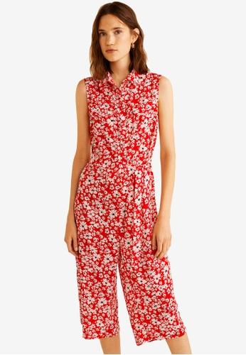 Mango red Floral Print Jumpsuit 24A25AAD4D30F3GS_1
