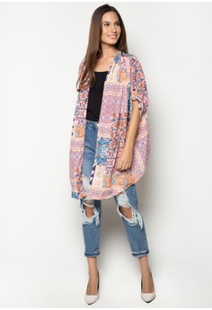 Georgette Printed Cardigan
