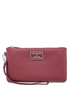 8fd1631f04 Perllini Mel red Faux Leather Clutch Wristlet EE02DAC83722DEGS 1