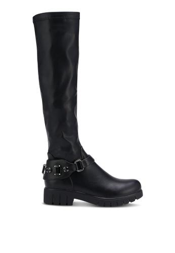 BETSY black Calf Heel Boots BE207SH0RERDMY_1